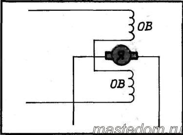 Рассмотрим устройство простейшего коллекторного двигателя.